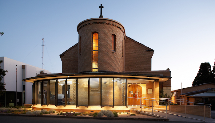 New glazed entry to 1950's church