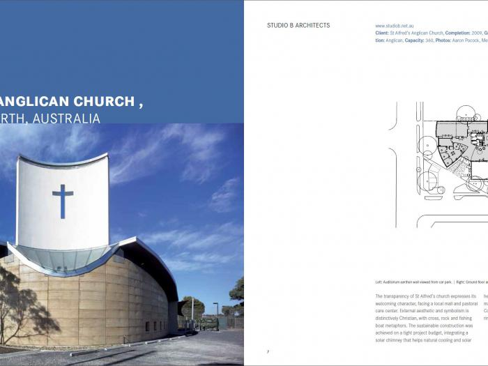 Studio B published in a book Sacred Architecture by Braun Publishing